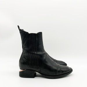 ALEXANDER WANG Anouck Chelsea Boots Black Leather